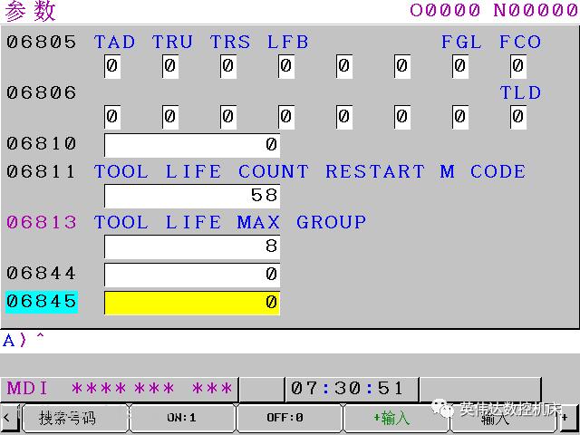FANUC刀具寿命管理功能相关参数介绍