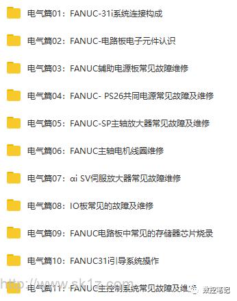 FANUC培训课程 全套原创视频教程