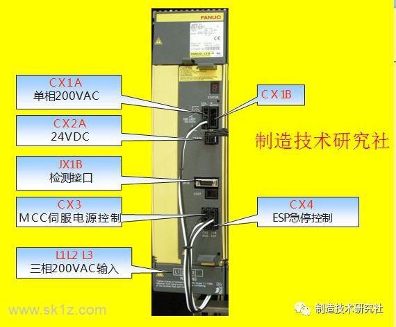 FANUC数控机床电源放大器的连接