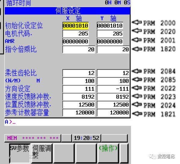 FANUC齿轮比及参考计数器容量速算