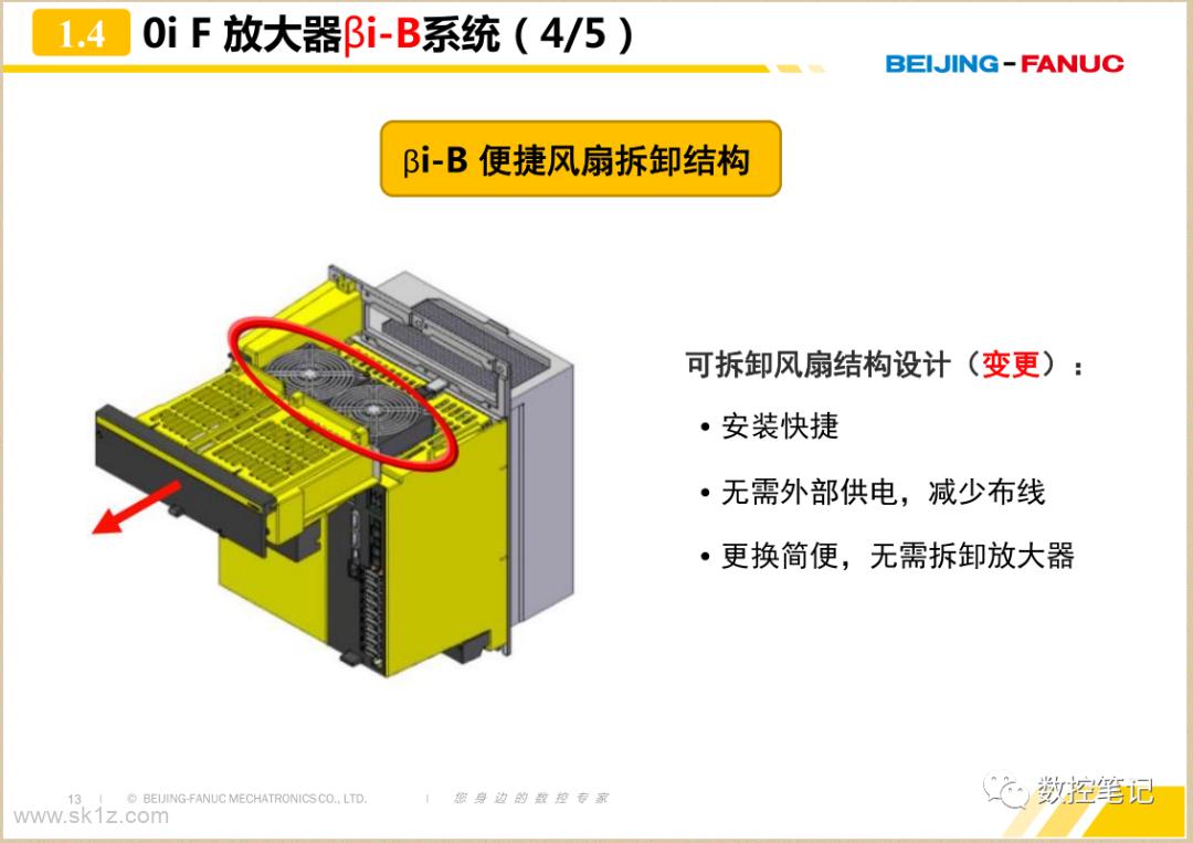 FANUC 0iF 放大器硬件连接对比