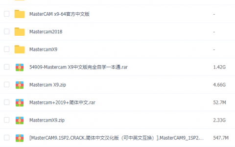 【VIP】MasterCAM资料汇总