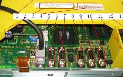 FANUC 0i-D系统装置实物图及接口解释